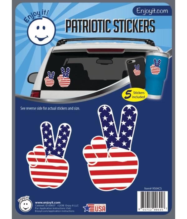 Peace Hand U.S.A. Flag Stickers