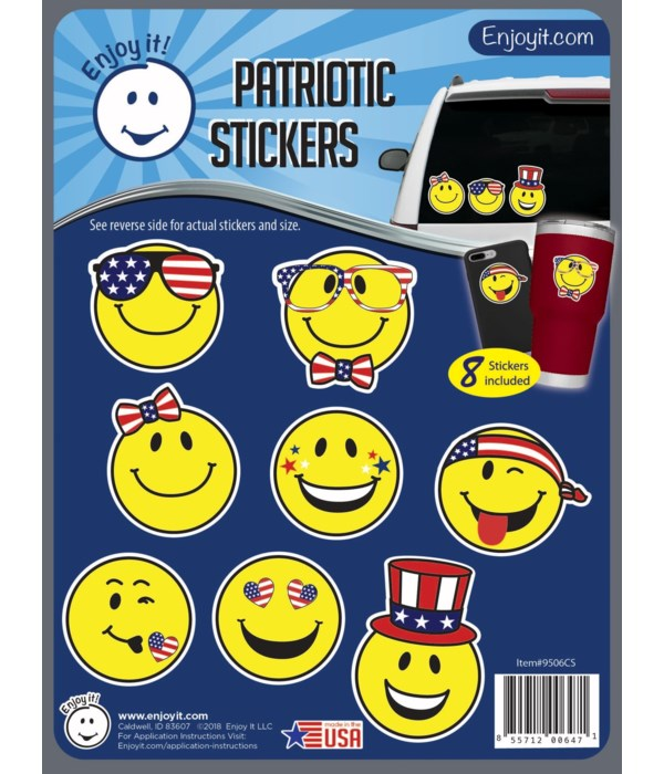 Smiling Faces U.S.A. Flag Stickers