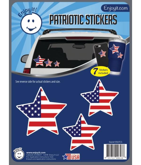 Stars U.S.A. Flag Stickers