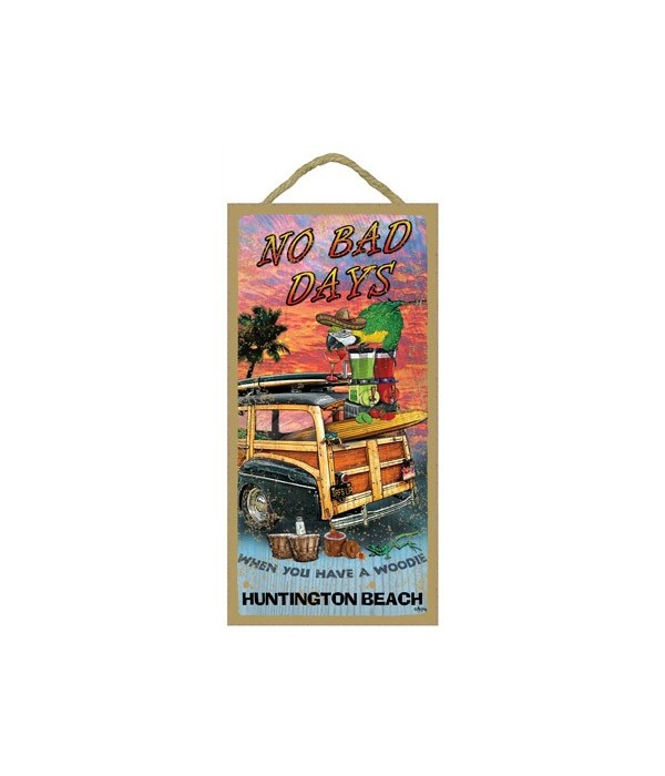 No Bad Days - with woodie on beach 5x10