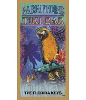ParrotDise Tiki Bar - with picture of pa