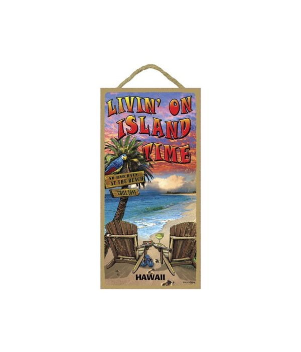 Livin' on island time - with beach chair