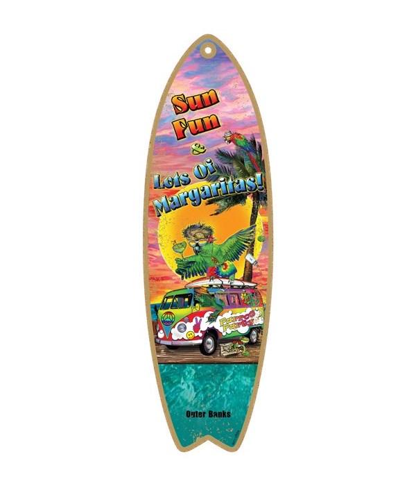 Sun Fun and lots of margarittas! Surfboa
