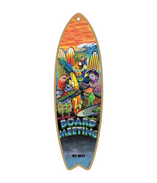 Board meeting - parrots & surfboards Sur