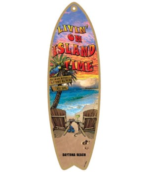 Livin' on island time Surfboard