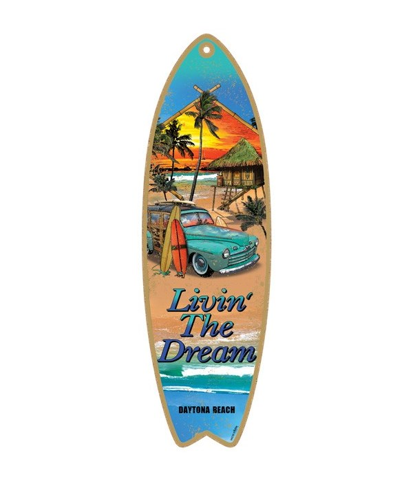 Livin' the dream - woodie on the beach S