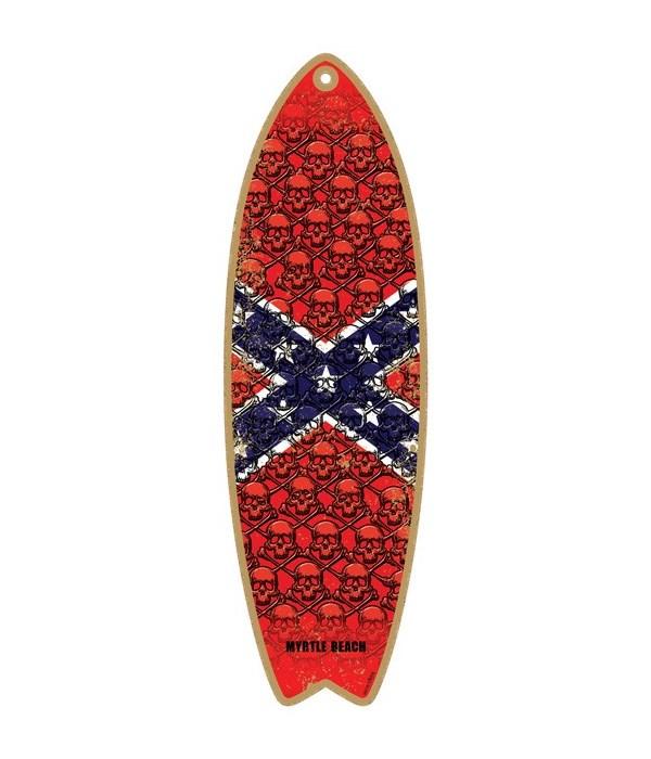Skulls - confederate flag Surfboard