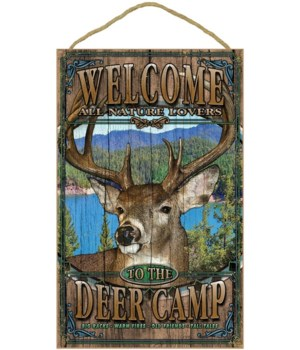 Deer welcome 10x16 sign