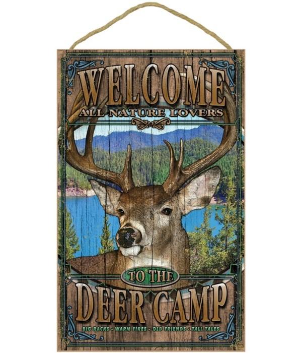 Deer welcome 10x16 sign