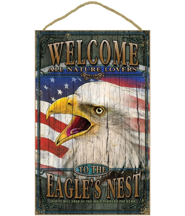Eagle welcome 10x16 sign