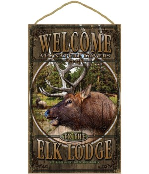 Elk Lodge welcome 10x16 sign