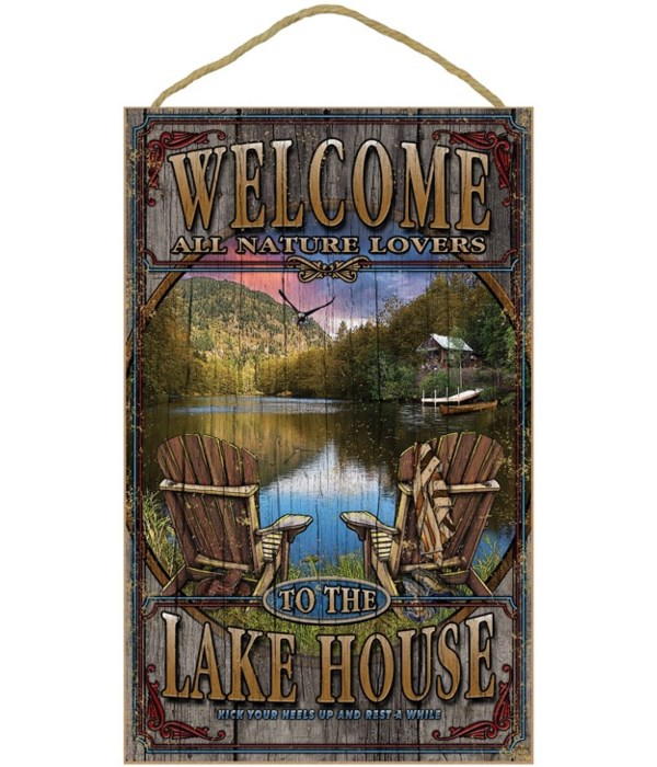 Lake House welcome 10x16 sign