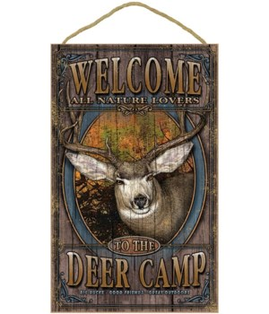 Deer, Mule welcome 10x16 sign