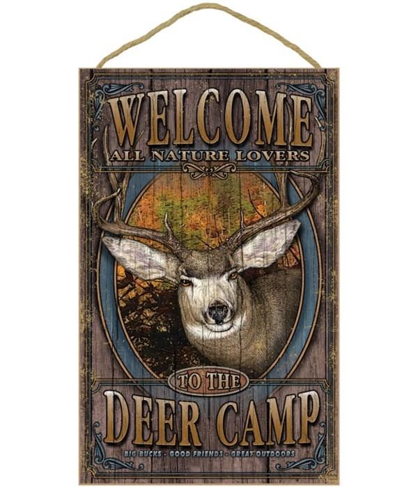 Deer, Mule welcome 10x16 sign