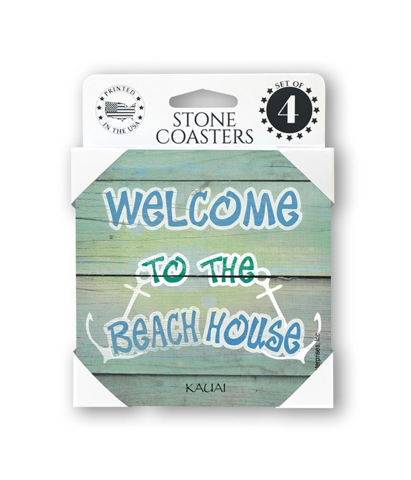 Welcome to the beach house - two anchors