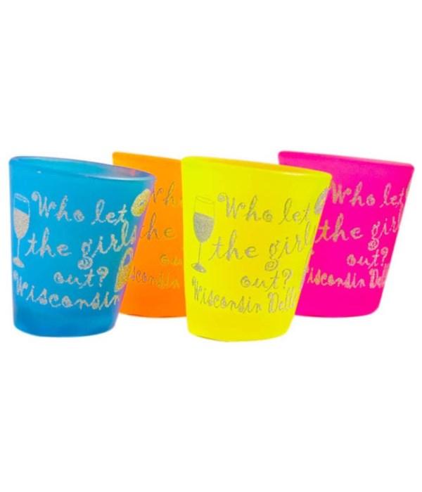Wisconsin Dells Shotglass Tipsy 4/A