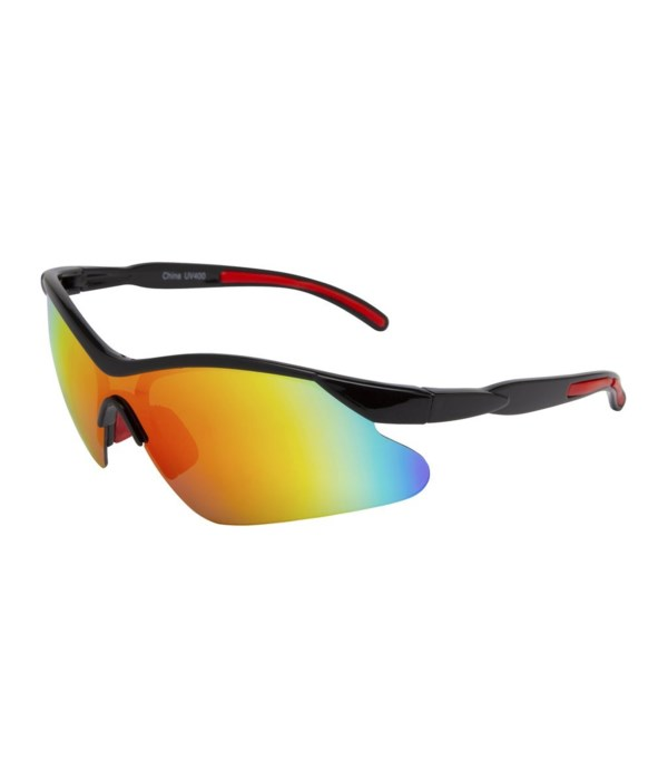 Semi-Rimless Sport Wrap Sunglasses