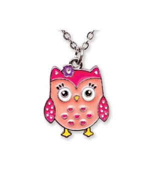 Owl Pendant w/Box 6PC