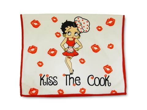 """/""""KISS THE COOK/'/"""" BRAND NEW STYLE BETTY BOOP KITCHEN SPOON REST"""