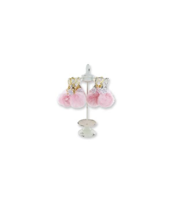 Pink BCA Puff Key Chain 24PC D