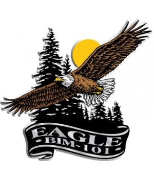 Banner eagle imprint magnet
