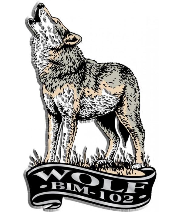 Banner wolf imprint magnet