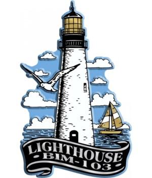 Banner Lighthouse imprint magnet