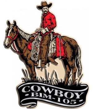 Banner Cowboy imprint magnet