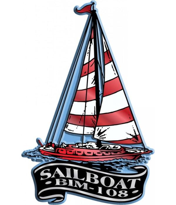 Banner Sailboat imprint magnet