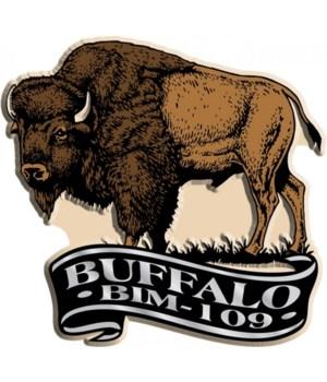 Banner bison imprint magnet