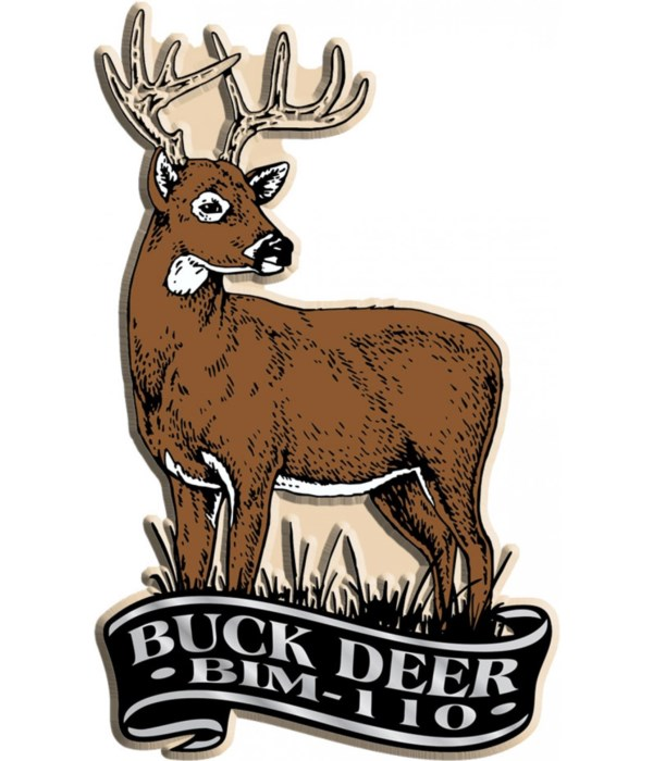 Banner deer imprint magnet