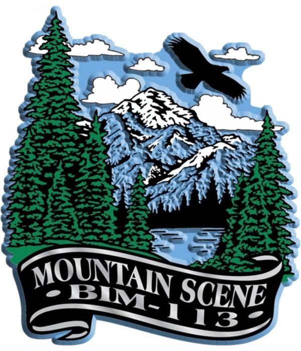 Banner mountain imprint magnet