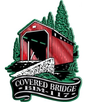 Banner Covered bridge imprint magnet