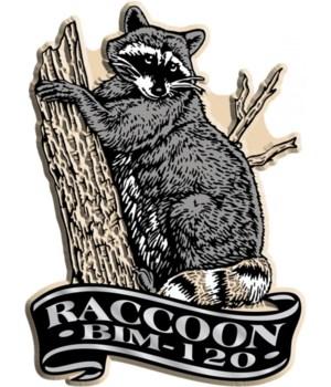 Banner raccoon imprint magnet