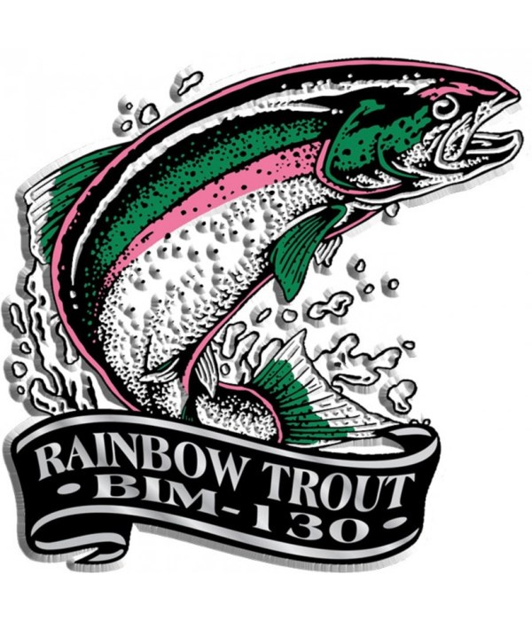 Banner trout imprint magnet