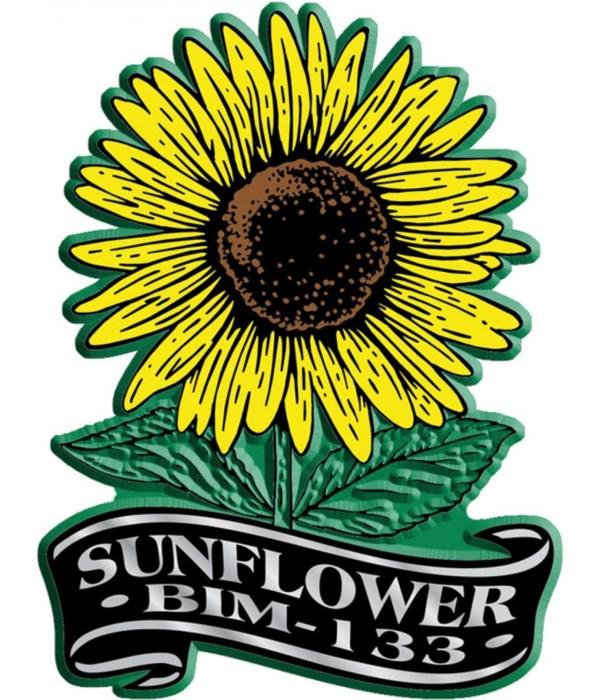 Banner Flower imprint magnet