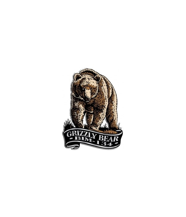 Banner Grizzly Bear imprint magnet