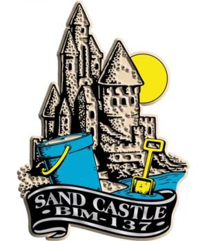 Banner sandcastle imprint magnet