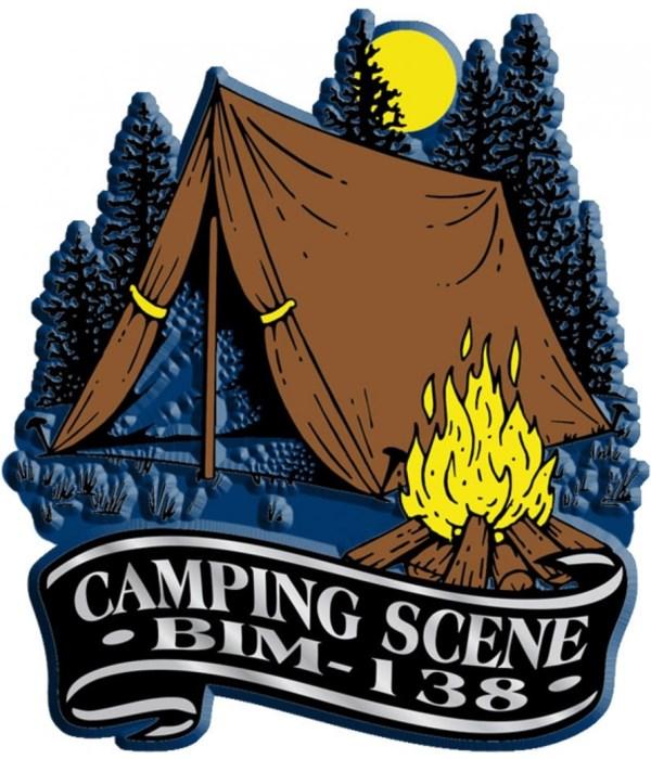 Banner Camping scene imprint magnet