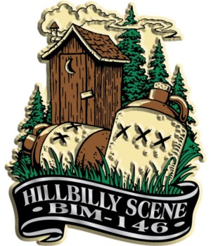 Banner hillbilly imprint magnet