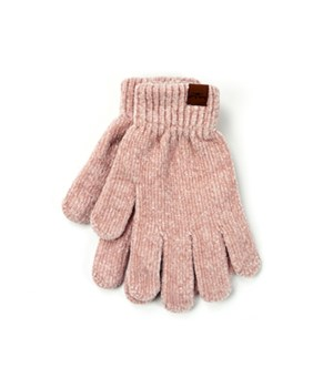 Blush Soft Chenille Gloves 6PC