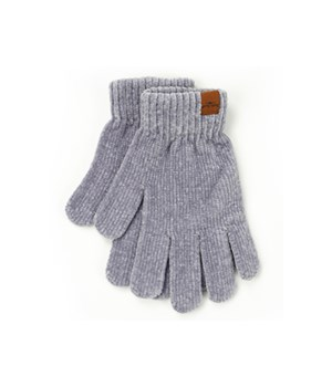 Gray Soft Chenille Gloves 6PC