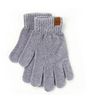 Gray Beyond Soft Chenille Gloves 6PC