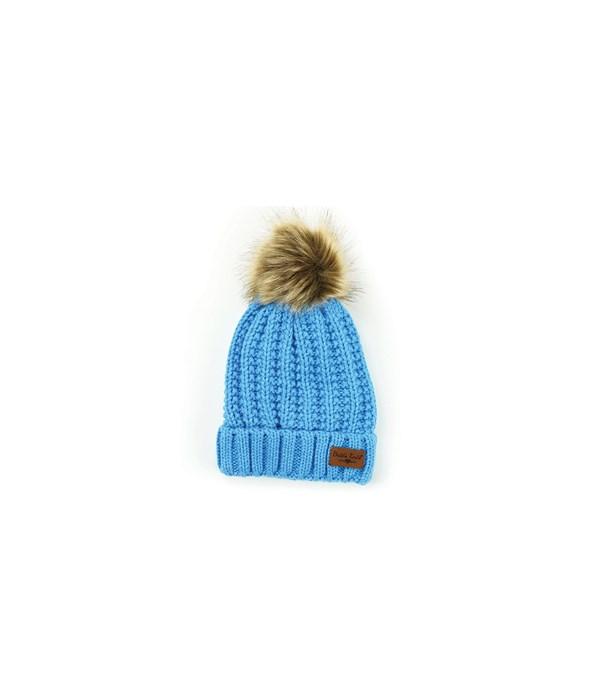 Blue Bitties-Kid's Pom Hat 4PC