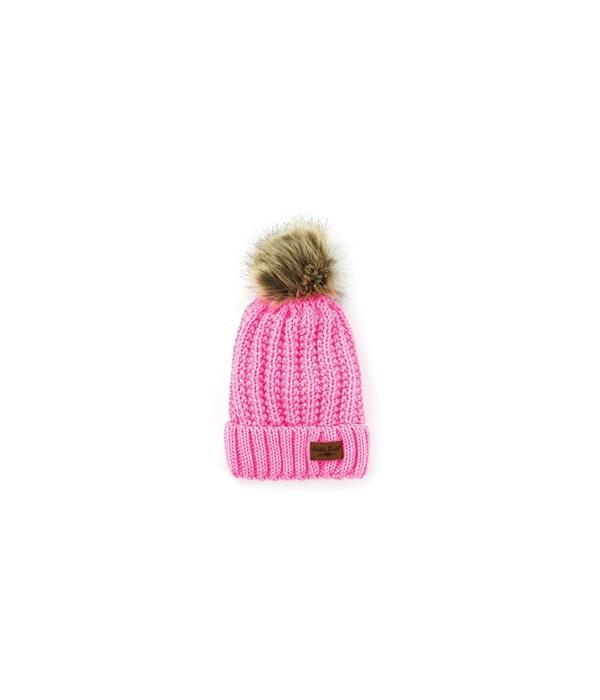 Pink Bitties-Kid's Pom Hat 4PC