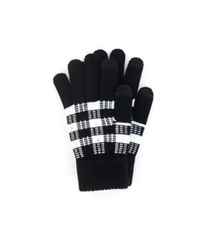 Britts Buffalo Plaid Pom BLK Glove 24 pc