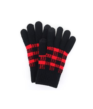 Black & White Buffalo Plaid Glove 6PC