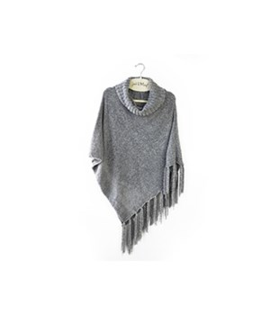 Gray Beyond Soft Chenille Poncho 3PC
