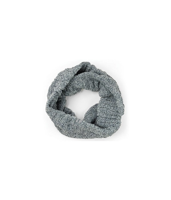 Gray Chenille Infinity Scarf 3PC