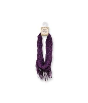Britt's Knits Infinity Scarf - Purple